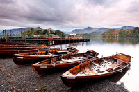 Day 2: Early morning boats at Friars Crag, Derwent Water