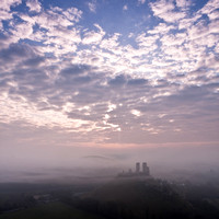 Misty Morning at Corfe Castle