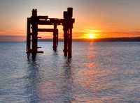 Lepe Beach: Sunrise at D-Day Jetty