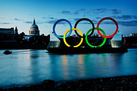 St Pauls with the Olympic Rings