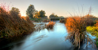 HDR of River Stour at Throop