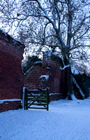 A snowy morning after at Leez Priory