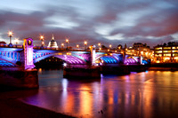Southwark Bridge, London (with Olympic Lighting)